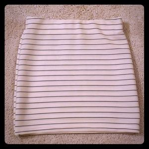 Dresses & Skirts - Cream & black striped mini skirt